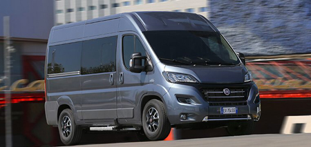 Fiat Ducato en configuration transport